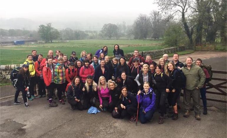 Gym members inspired by Emily trek 22 miles for charity