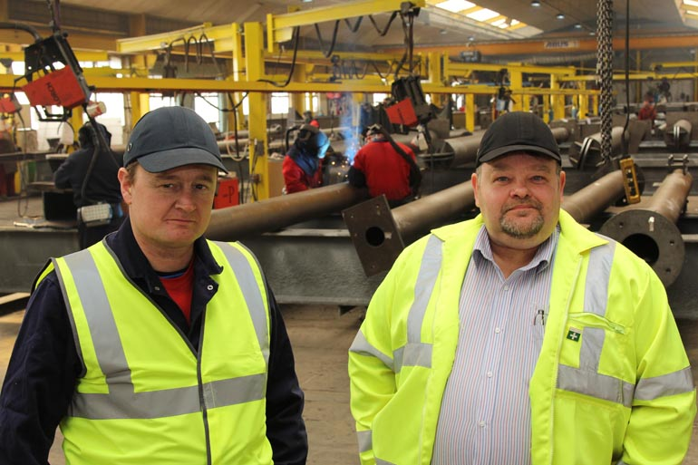 Alan Bailey (left) with Stuart Baxter