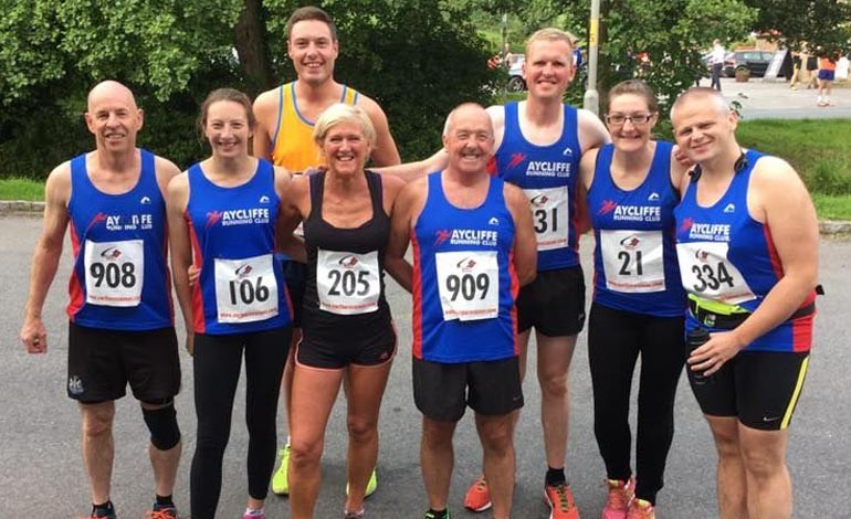 Aycliffe Running Club racing around the region