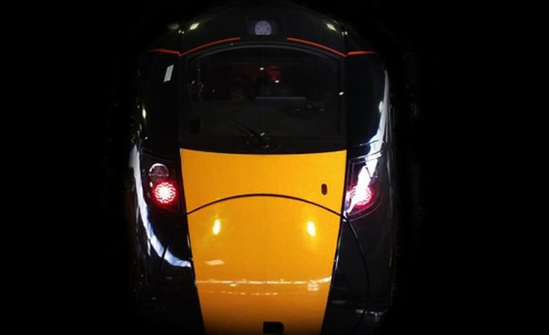 New Hitachi train carries guests for the first time