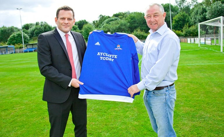 Aycliffe Today renews sponsorship with football club