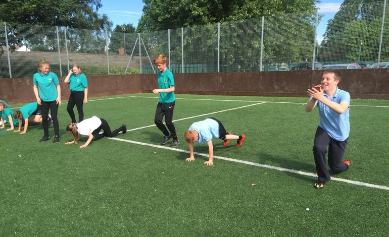 Aycliffe students tackle charity Boot Camp