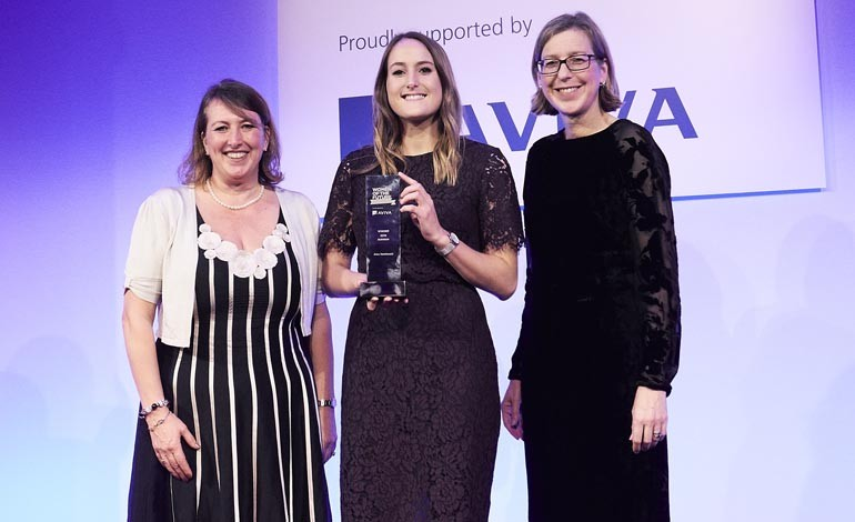 Newtonian Alex wins national Women of the Future award