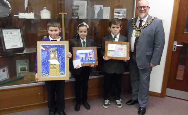 Stephenson Way student wins Mayor's Christmas Card competition