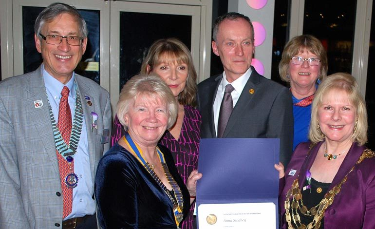 Top Rotary honour for cancer campaigner Anna