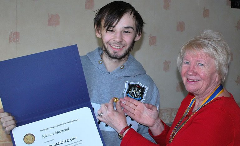 Top Rotary honour for courageous Kieran