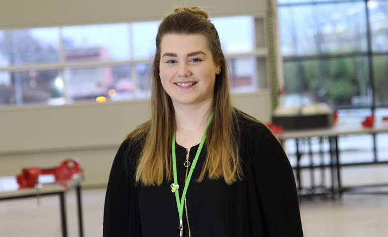 Engineering student Arianna enjoying UTC life in Aycliffe