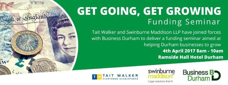 Get going, get growing funding seminar