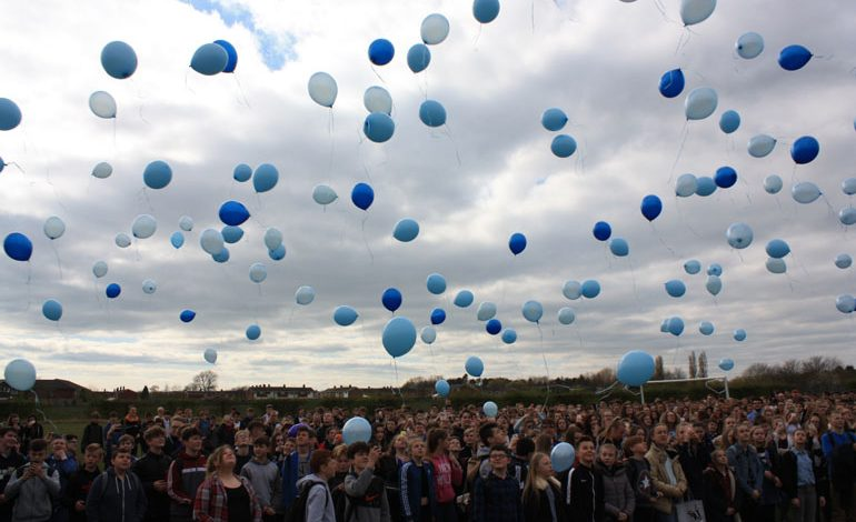 Woodham students release balloons in memory of Emily