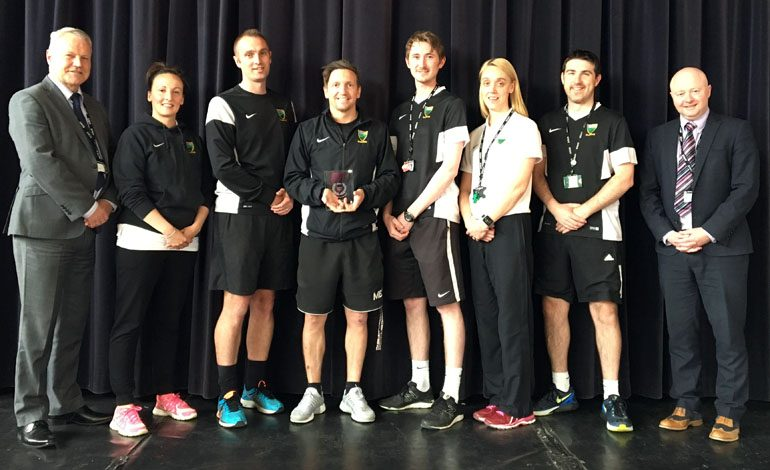 Greenfield PE department gains Quality Mark status