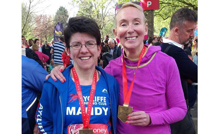 Aycliffe runners complete London Marathon