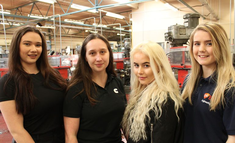 Female apprentices urge girls to consider engineering