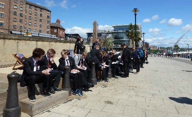Aycliffe students study the environment on Newcastle strip