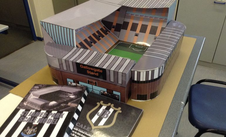 Students make replica of St James' Park