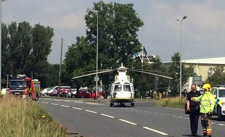 Man air-lifted to hospital after Burtree Gate accident