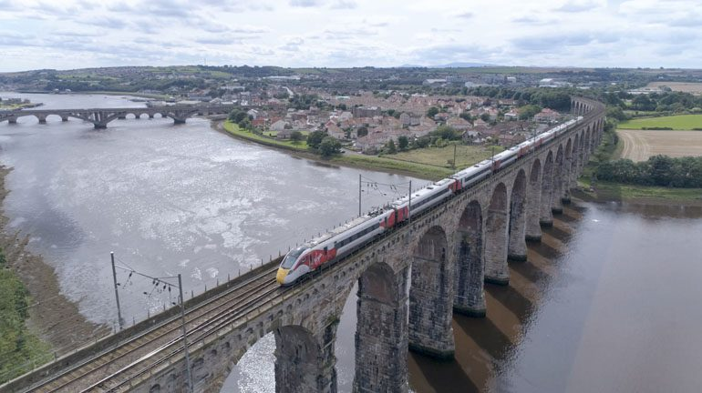 Aycliffe-built Virgin Azuma debuts in Scotland on east coast test run
