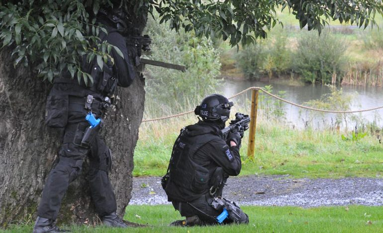 Police carry out anti-terrorism exercise at Kynren site
