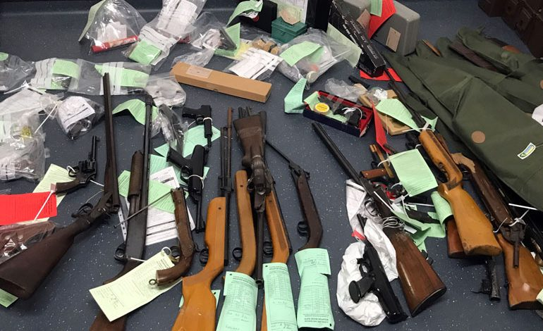 More than 60 firearms handed in during surrender
