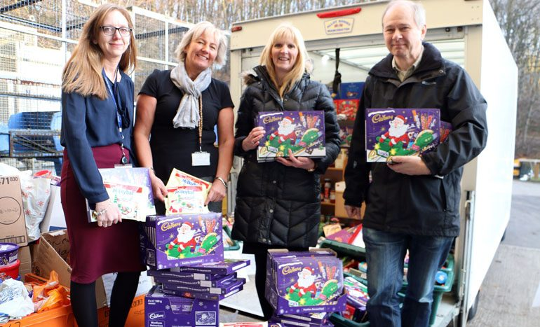 Councillors and staff give generously to Durham Food Bank