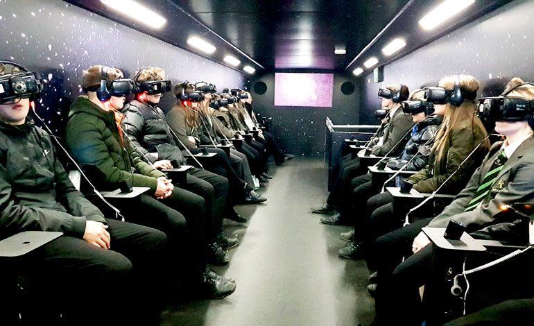 Students enjoy virtual space trip