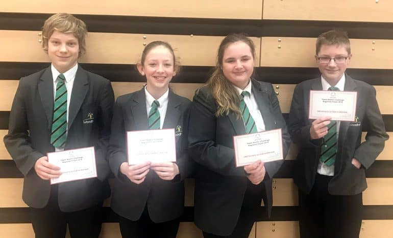 Four Woodham students compete in regional Maths final