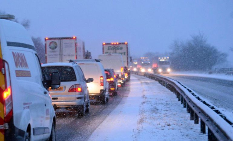 A1 Northbound blocked amid continued snow chaos
