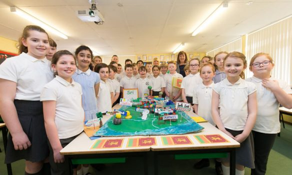 Children learn about their Commonwealth neighbours