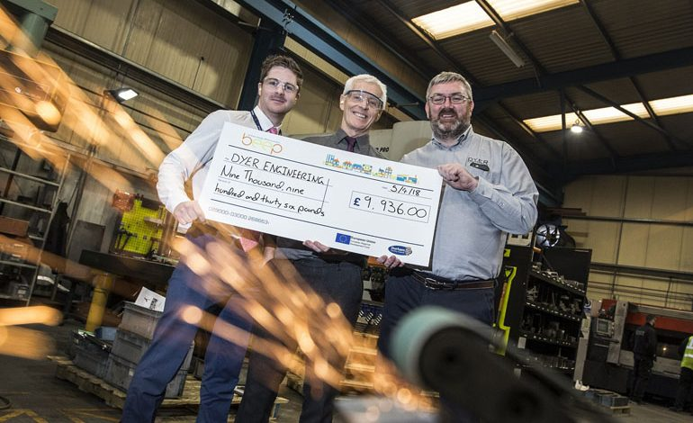 Engineering company lights up its future with energy grant