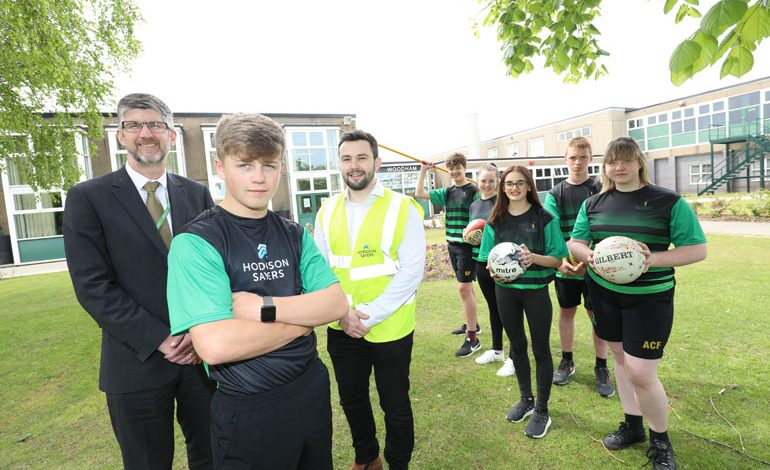 Company donates defibrillator and new sports kit to Aycliffe school