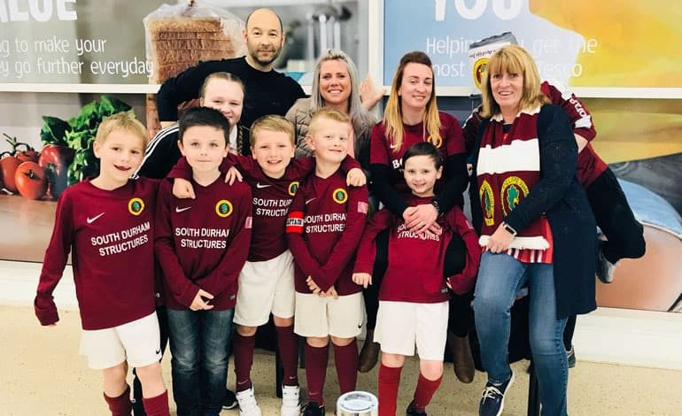 Aycliffe Juniors thank sponsors for ongoing support