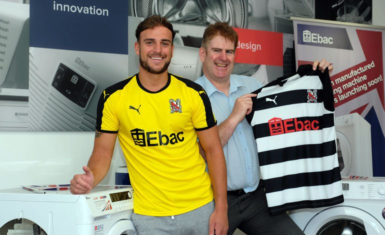 Aycliffe firm Ebac unveiled as Darlington's new shirt sponsor