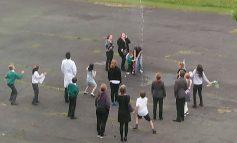 Lift-off as school 'sparkies' launch rocket