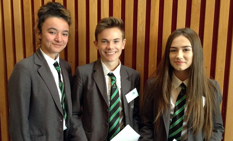 Budding entrepreneurs in Dragons' Den-style competition
