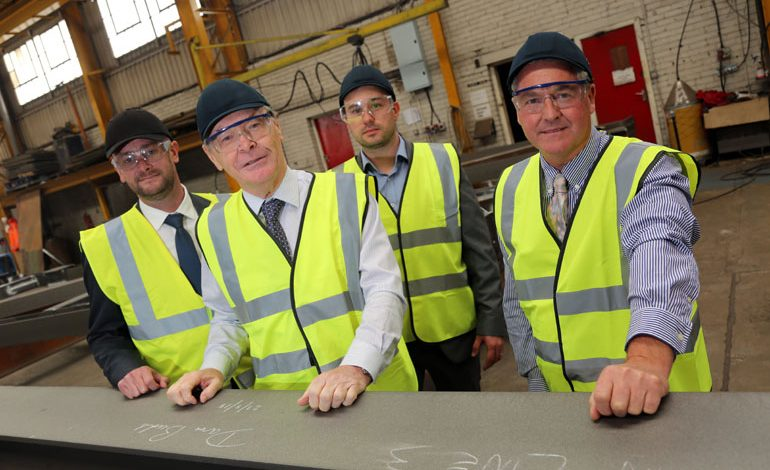 Middlesbrough mayor signs landmark piece of Aycliffe steel