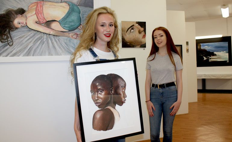 Students' art work goes on display at end-of-year exhibition