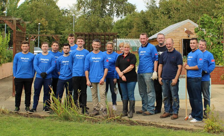 3M staff spend volunteering day at Aycliffe wellbeing centre