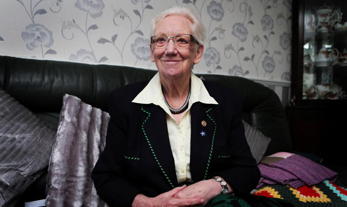 Aycliffe 'Angel' is honoured for her community work