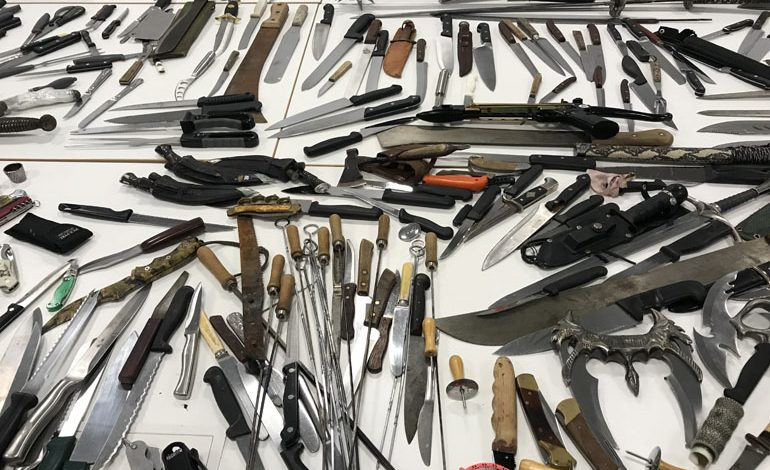 314 knives, 22 swords and 14 machetes handed in during week-long amnesty