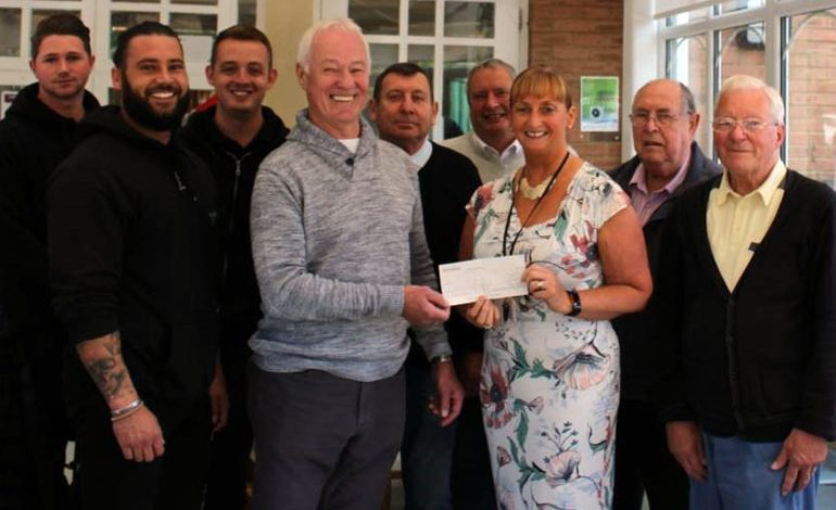 Aycliffe Freemasons shake hands on £250 Memory Café donation