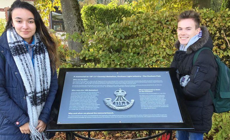 Students represent Aycliffe school in Belgian Centenary tour