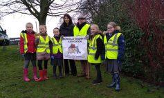 Aycliffe pupils plant 10,000 Crocus Bulbs too improve their walk to school