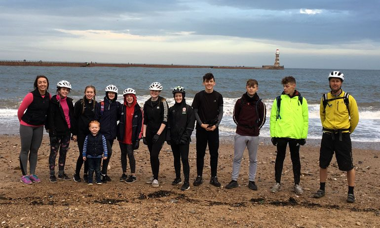 Students complete 36-mile fundraising bike ride