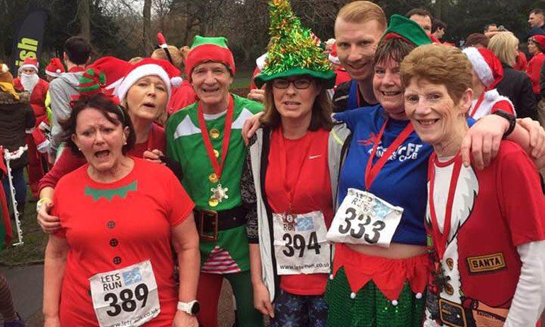 Aycliffe runners get festive