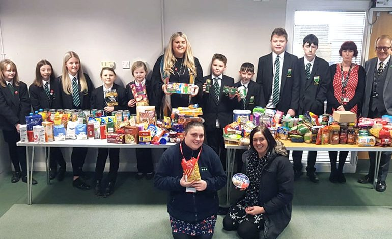Greenfield students contribute to food bank appeal