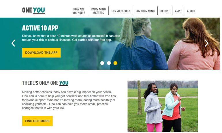 Free digital workshop to understand 'One You' website