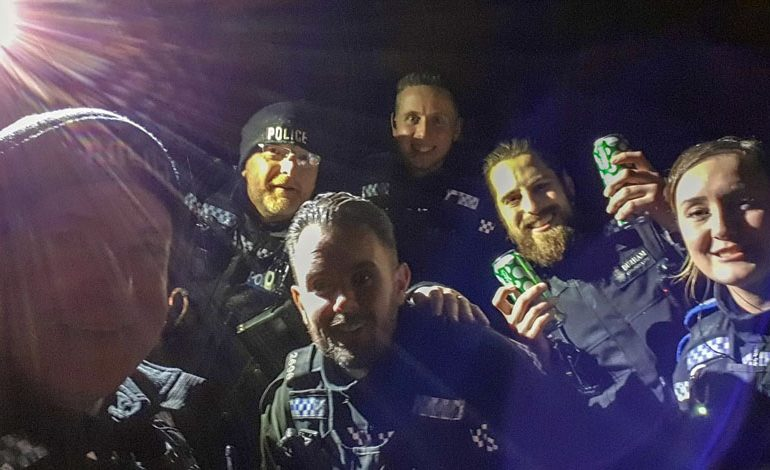 Aycliffe cops on Cobblers booze patrol