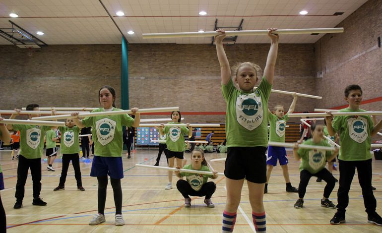 100 youngsters take part in fitness extravaganza!