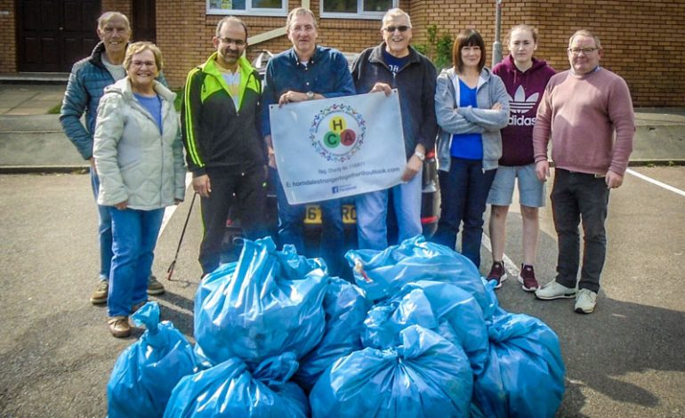 15 bags of rubbish collected during litter-pick