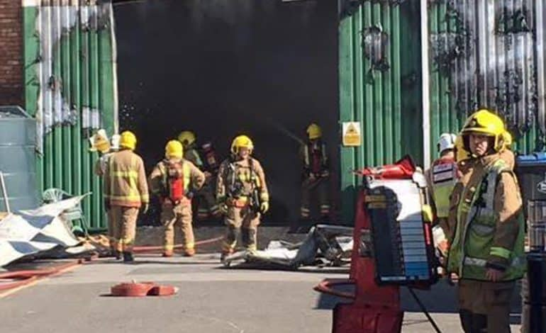 Investigation into timber fire on Aycliffe Business Park