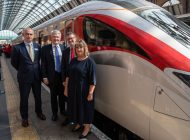 Aycliffe-built Azuma train enters service